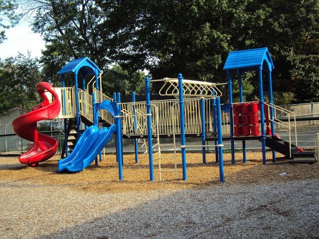 Playground slide park.