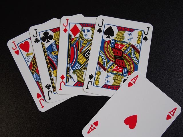 Playing cards poker boys, transportation traffic.