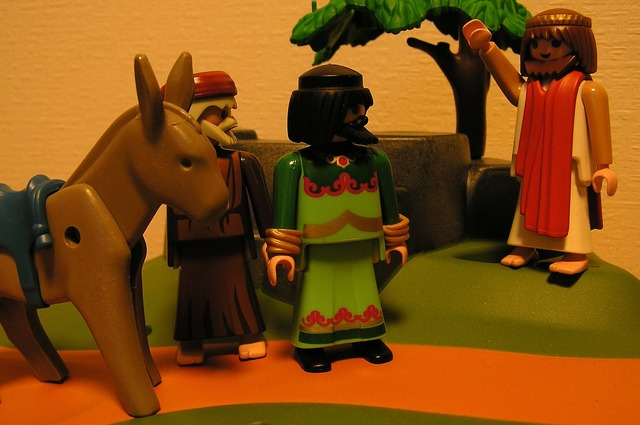 Playmobil jesus the donkey, religion.