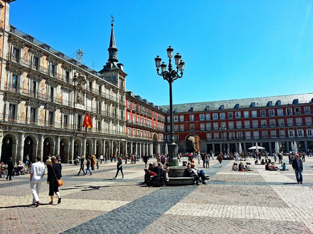 Plaza major madrid spain, places monuments.