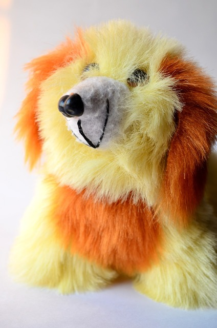 Plush toy dog puppy, animals.