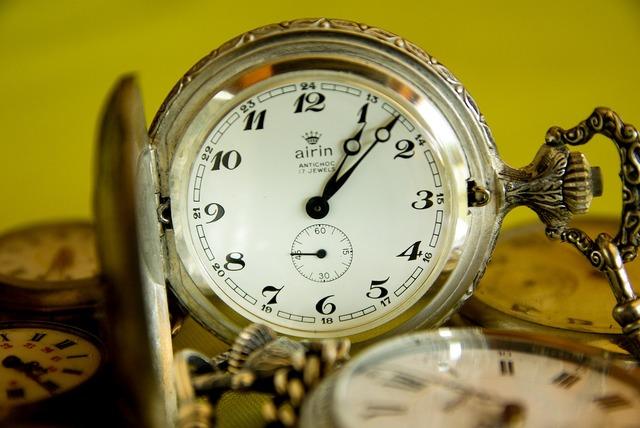 Pocket watch flea market time.