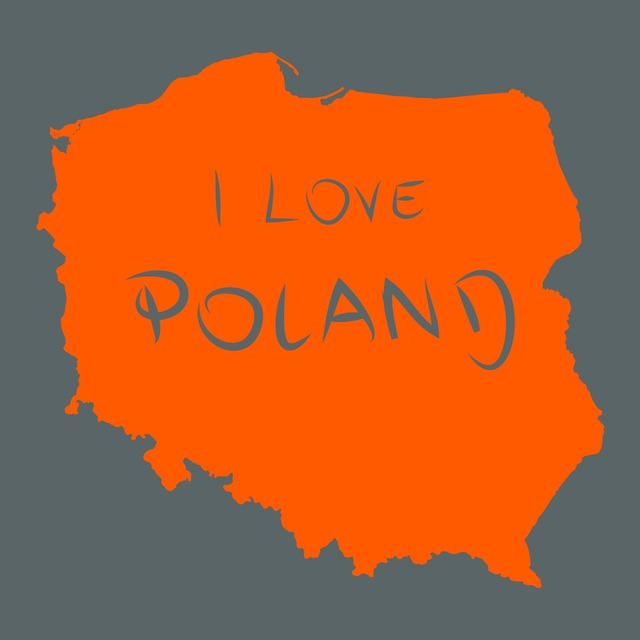 Poland map of poland country.