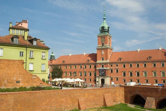 Poland warsaw castle, places monuments.