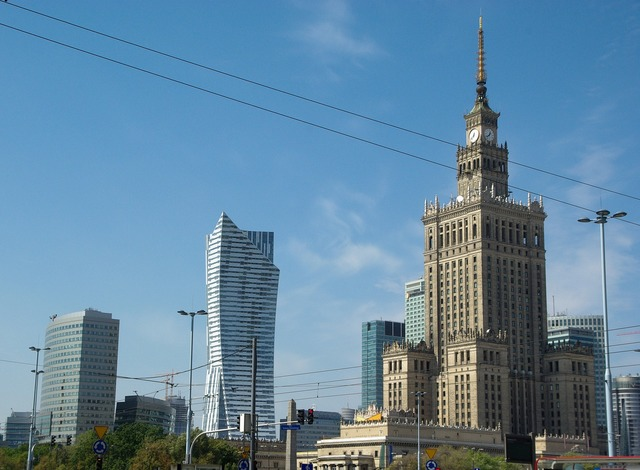 Poland warsaw palace, architecture buildings.