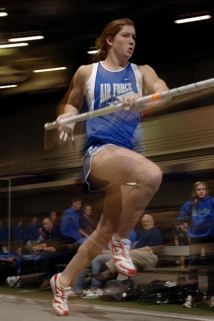 Pole vaulter athlete sport, sports.