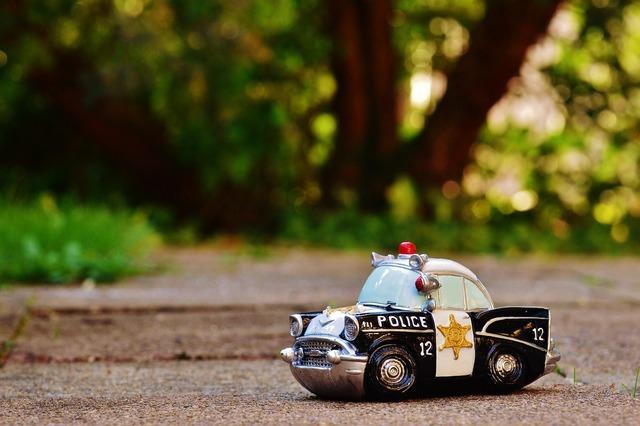 Police auto police car, transportation traffic.