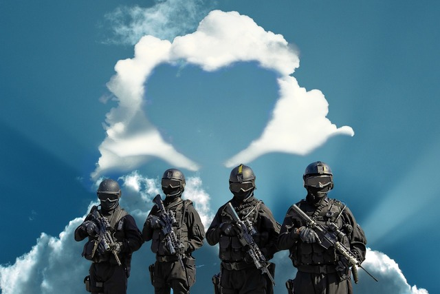 Police soldiers heart, emotions.