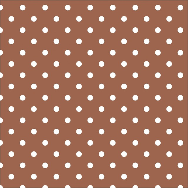 Polka dots brown white, backgrounds textures.