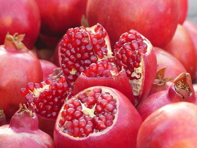 Pomegranate iran fruit, food drink.