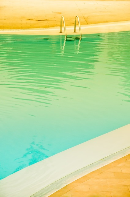 Pool colors pastel, travel vacation.