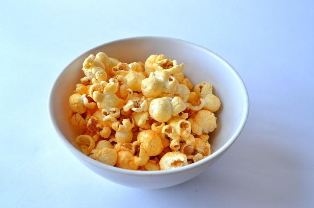 Popcorn snack food, food drink.