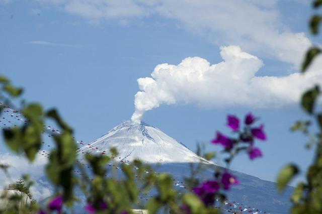 Popocatepetl mexico volcano, nature landscapes.