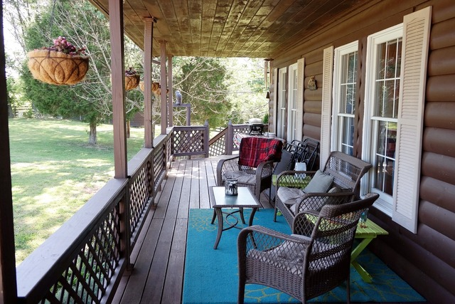 Porch country living covered porch.