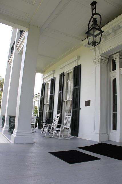 Porch front rockers, architecture buildings.