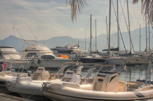 Port boats sea.