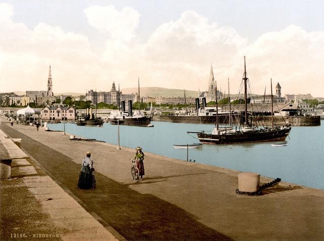 Port dublin city, architecture buildings.
