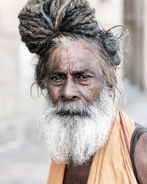 Portrait sadhu holyman, religion.