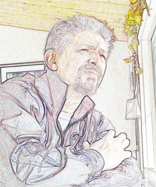 Portrait self contemplative.