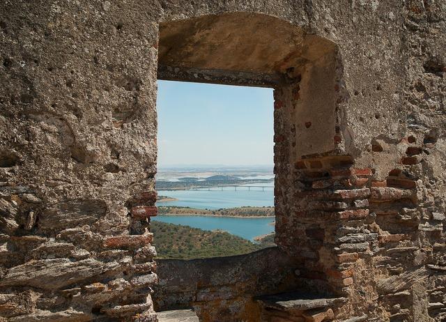 Portugal castle ruin.