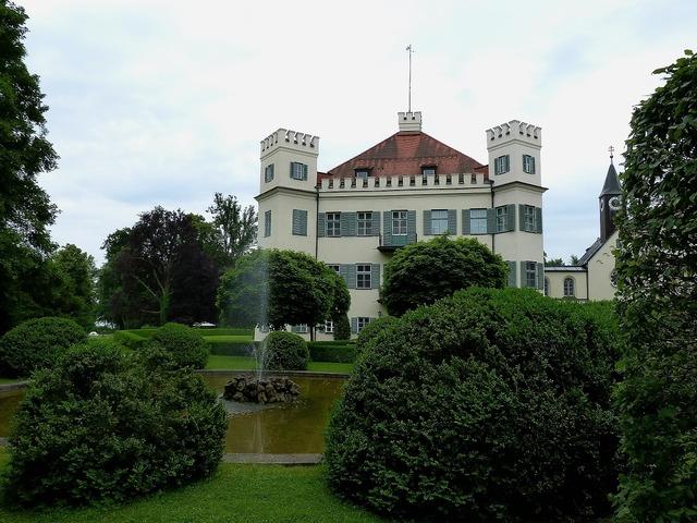 Possenhofen castle architecture, architecture buildings.