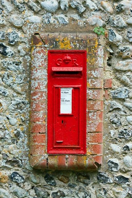 Post box postbox mail box.