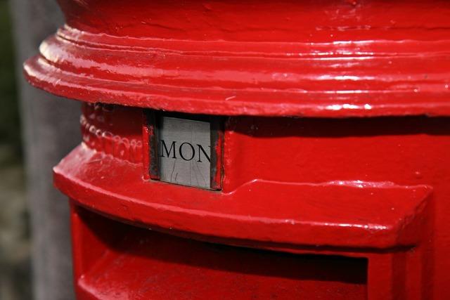 Postbox british red.
