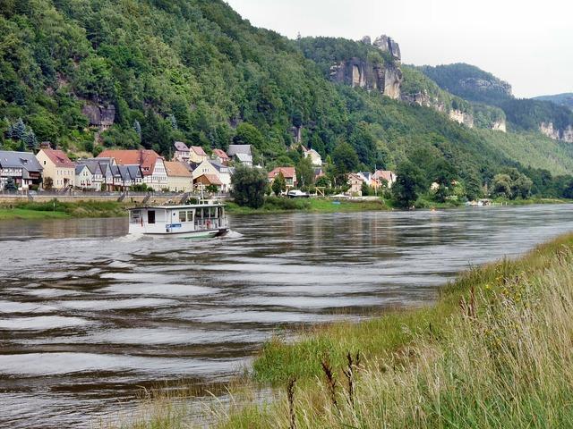 Postelwitz elbe paddle steamer.