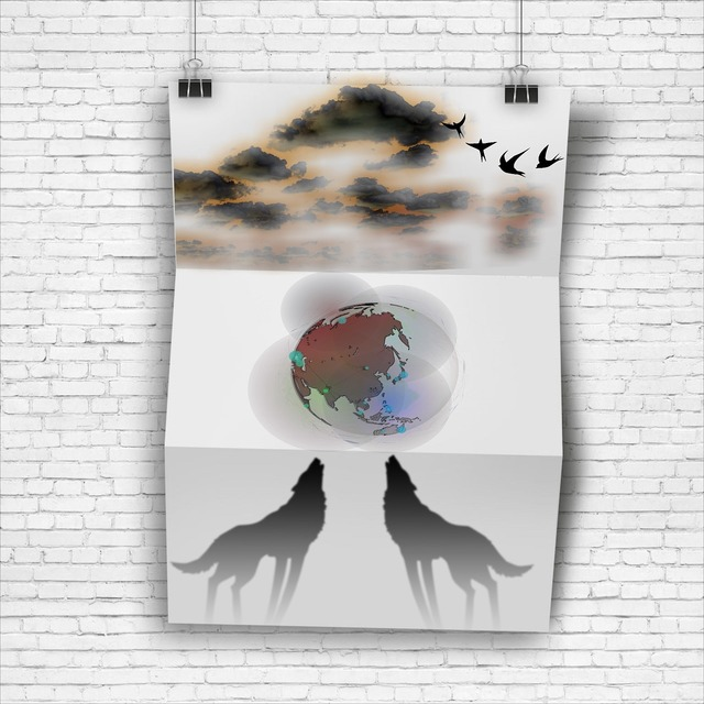 Poster clouds planet.
