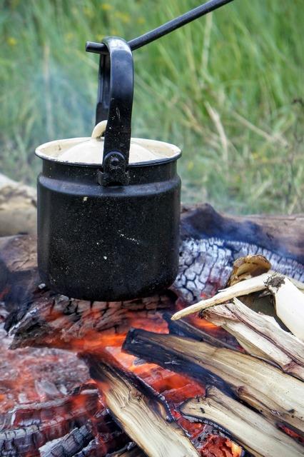 Pot wood scheit fireplace.