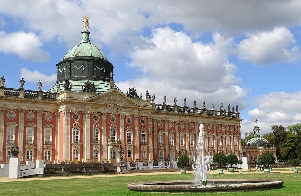 Potsdam castle places of interest, architecture buildings.