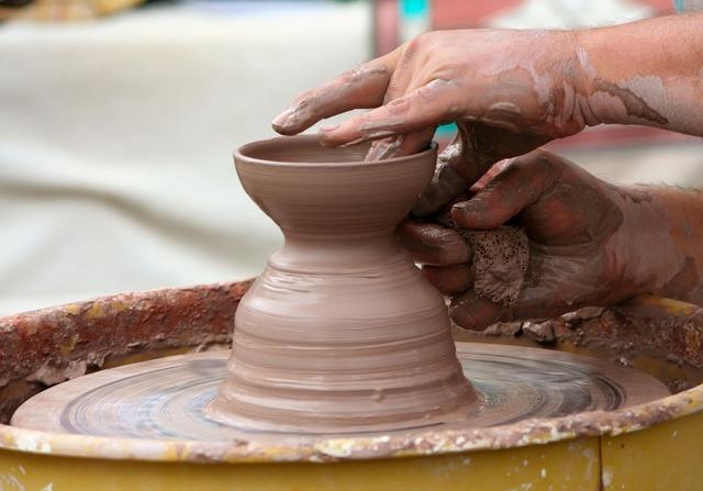 Potter's wheel clay sculpt.