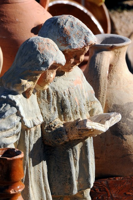 Pottery terracotta children.