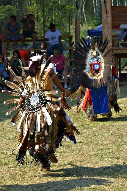 Powwow native dancer.