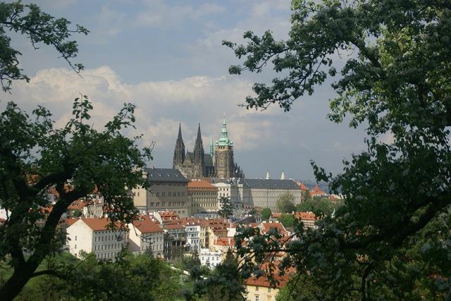 Prague castle architecture, architecture buildings.