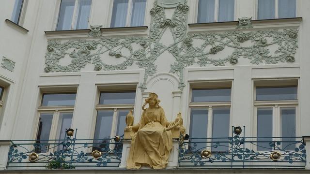 Prague home ornaments, architecture buildings.