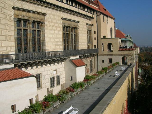 Prague tourism castle, travel vacation.