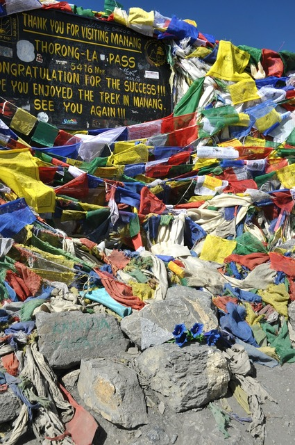 Prayer flags flags annapurna, nature landscapes.