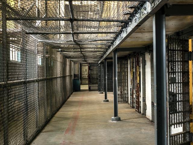 Prison cell slammer.