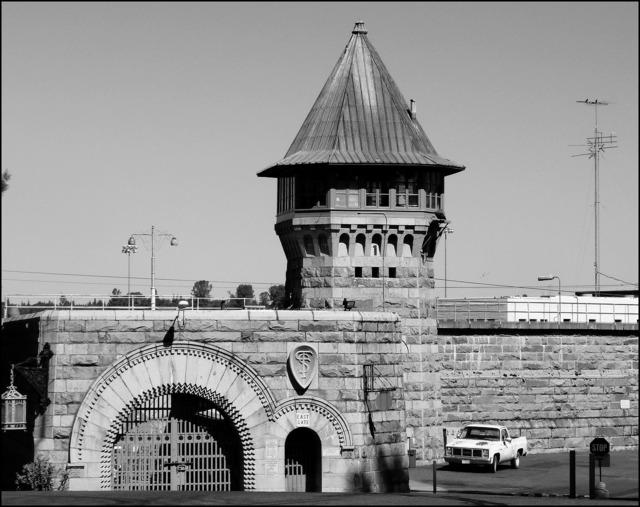 Prison gate building, architecture buildings.