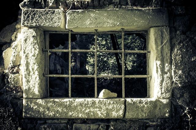 Prison prison window window.