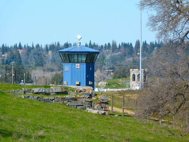 Prison tower building, architecture buildings.