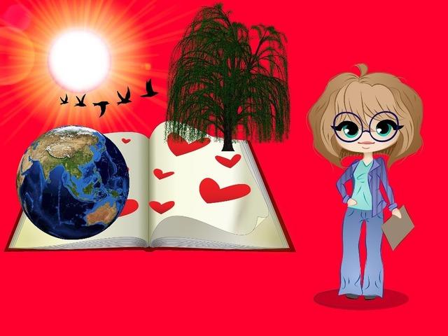 Professor open book terrestrial globe, education.