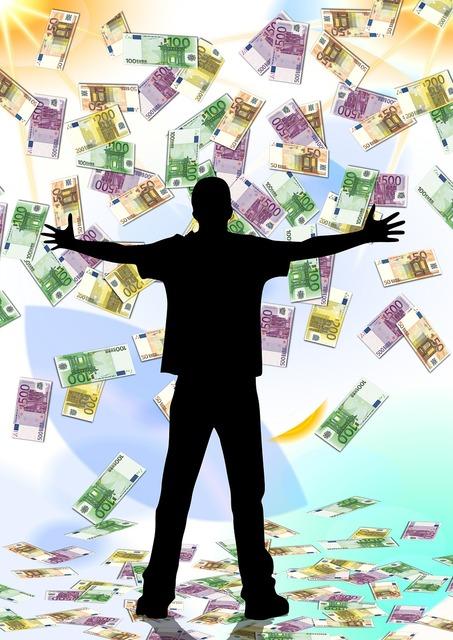 Profit wealth businessmen, business finance.