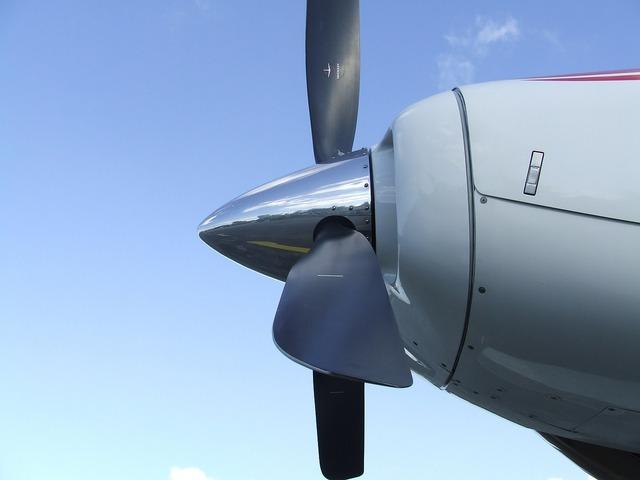 Propeller aircraft motor.