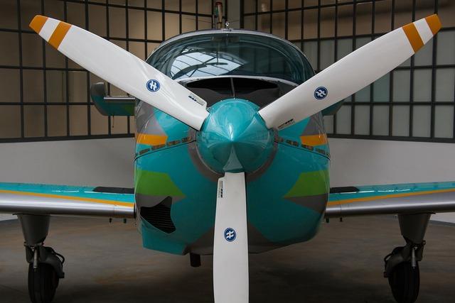 Propeller aircraft propeller plane.