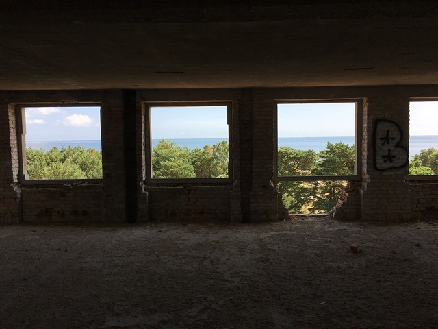 Prora ruin view, architecture buildings.