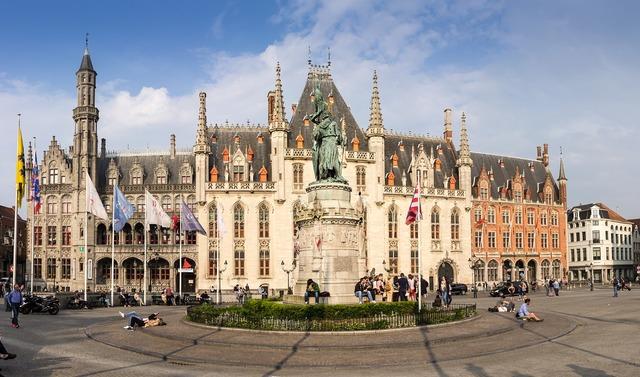 Provinciaal hof bruges belgium, architecture buildings.