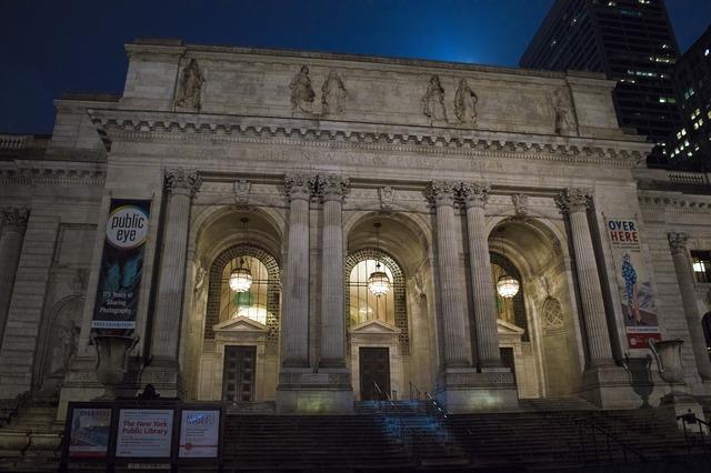 Public library new york manhattan, architecture buildings.