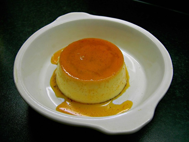 Pudding vanilla pudding dessert.